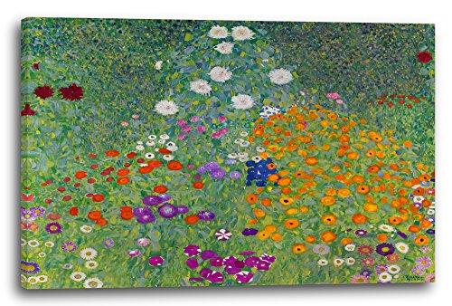Printed Paintings Leinwand (80x60cm): Gustav Klimt - Bauerngarten (1907)