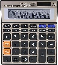 $20 » Calculator Battery Solar Dual Powered Large Screen Keyboard Design 14 Digit Office Desktop Financial Calculator
