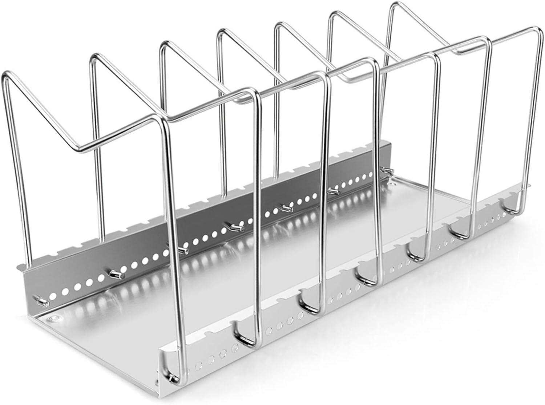 Kitchen Inventory cleanup selling [Alternative dealer] sale Storage Pan Cover Holder Pot Iron Stan Rack Lid