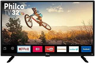 "Smart TV LED 32"" Philco PTV32G50SN HD com Conversor Digital 2 HDMI 1 USB Wi-Fi Áudio Dolby Preta"