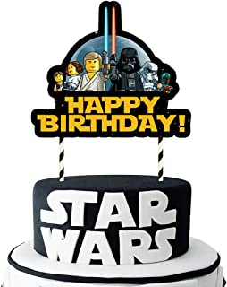 Remarkable Amazon Com Star Wars Cake Toppers Frosting Icing Funny Birthday Cards Online Overcheapnameinfo