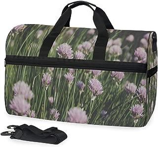 Gym Bag Purple Flower Opening Sport Duffle Holdall Bag Training Handbag Yoga bag for Men Women