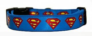 Superman DC Comics Collar Perro Hecho A Mano Talla M Handmade Dog Collar