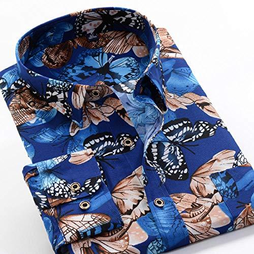 Camisa Camisa de manga larga estampada de primavera y otoño Camisa clásica de flores de moda para hombres 13 Elección de color se aplica al trabajo de negocios o al uso diario etc.-226090_5XL-45