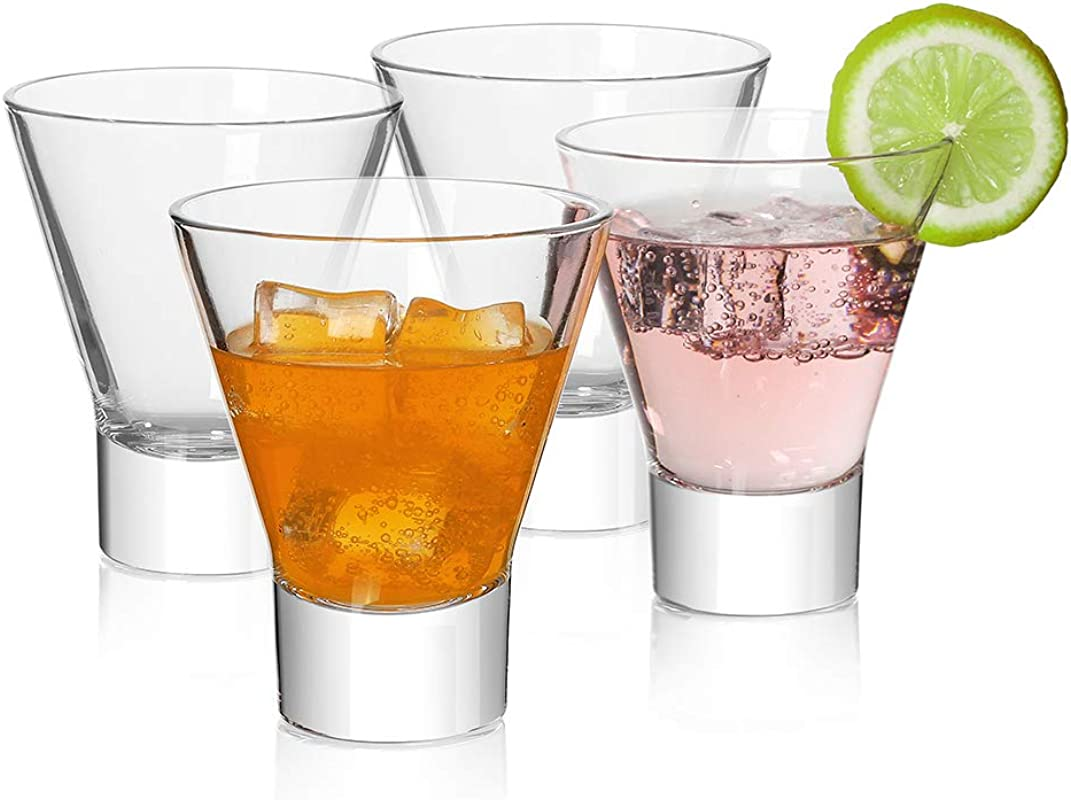 Martini Glasses Cocktail Glasses Set Of 4 Stemless Martini Cocktail Glass 8 Ounce Cocktail Bar Glass Perfect Quality Gift For Banquet Party Wedding Housewarming Birthday Celebrations 4 Pack