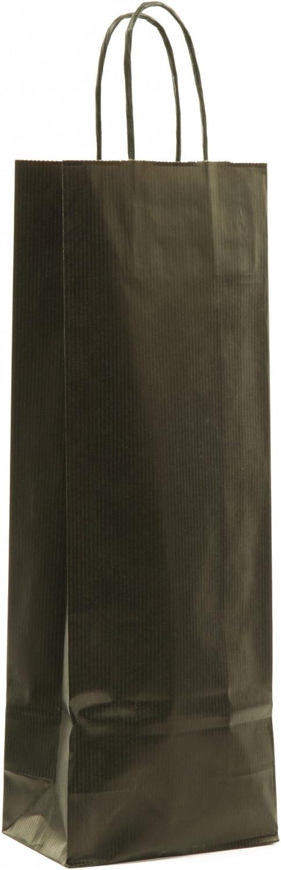 Weintragetüten Flaschenbeutel aus aus aus Kraftpapier Papierkordel schwarz für 1 Flasche VE 100 Stück B07DRGLGMR  | Online Outlet Shop  f56ad6