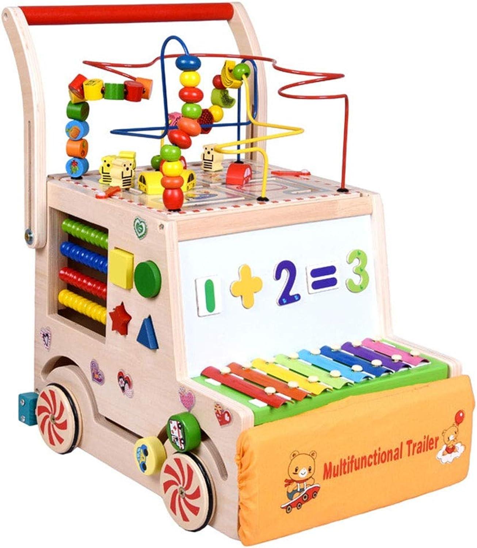 tienda en linea Andador Caminante de Madera para para para Niños Bloques de construcción para bebés de múltiples Funciones Puzzle Educación temprana Juguete Coche Caminador para bebés Niños pequeños y bebés  venta