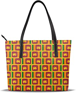 Originality Sri Lanka Flag Tote For Women Leather Handbags Shoulder Bag Purses Large Capacity
