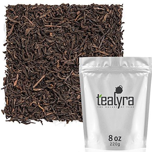 Tealyra - Ripe Puerh Tea - 5 Years Aged Loose Leaf - 100% Natural And Organic - Caffeine Level High - Lose Weight Tea - Aged Black Tea Pu Er - 220g (8-ounce)