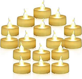 Youngerbaby Flameless Candles Battery Operated Candles Unscented Small Min Led Tea Lights Candles for Wedding Christmas,24pcs Flickering Warm White