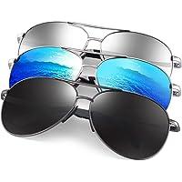 3-Pack Feirdio Polarized Aviator Unisex Sunglasses