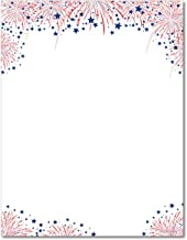 Fireworks American Patriotic Stationery Paper - 80 Sheets