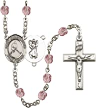 June Birth Month Prayer Bead Rosary with Patron Saint Centerpiece, 19 Inch