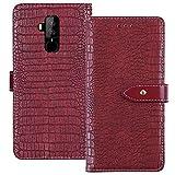 YLYT Flip TPU Silikon Hülle Etui Rot Leder Tasche Schutz Hülle Für HOMTOM S8 5.7 inch Handy Horizontale Standfunktion Magnetverschluss Strapazierfähiger Cover