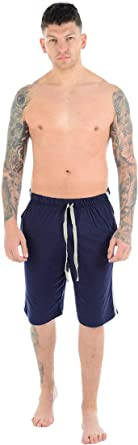 Mens Lounge Wear Shorts Nightwear Comfort Elasticated Waist Bottoms Poly Cotton Pyjama Pjs Joggers Sleepwear Plain Casual Gym Lightweight Loungewear Sizes S-2XL