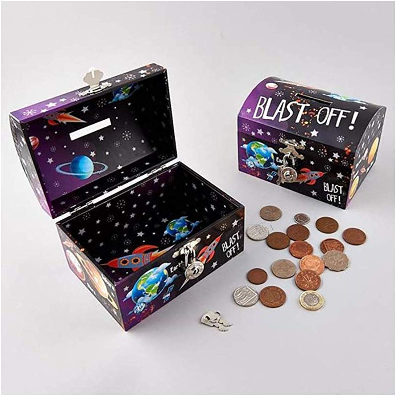 Floss Rock Lockable Rocket Money Box