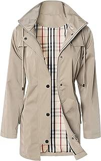 Women's Hooded Raincoat Windbreaker Long Rain Jacket Outdoor