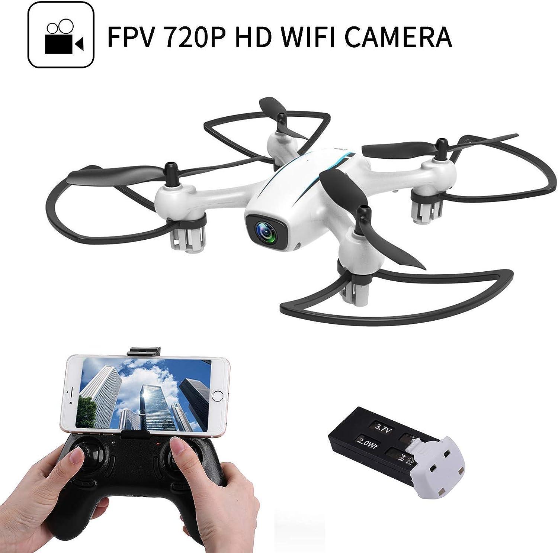 SQSAY Drohne mit Kamera, Boy Toys Fernbedienung Flugzeug mit 720P HD FPV-Kamera Live-Video, RC Quadcopter Headless-Modus, 3D-Flips und One Key Return