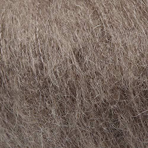 ggh Kid, Farbe:151 - Graubraun, Mohairwolle, 25g Wolle als Knäuel, Lauflänge ca.250 m, Verbrauch 150g, Nadelstärke 4-5, Stricken