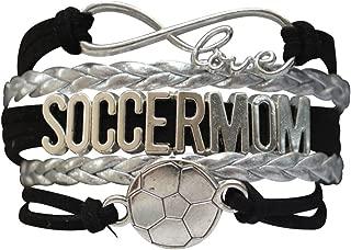 Soccer Mom Charm Infinity Love Bracelet, Soccer Moms Jewelry, Soccer Mom Gifts, Perfect Soccer Mom Gifts for Women