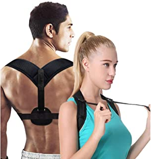 Posture Corrector for Men Women-Aaiffey Adjustable and Relieves Upper Back Brace Clavicle Support Correctors for Thoracic Kyphosis and Shoulder Neck Pain Relief