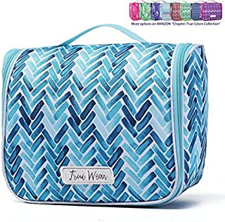 Chapter: True Colors. Large Makeup Cosmetic Hanging Toiletry Bag Travel Organizer for Men and Women - AquaMarine