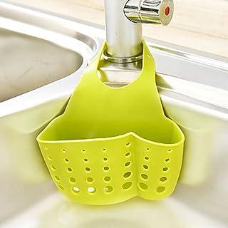 Abby Girls Escurridor del fregadero Drenaje de la cocina Tenedor de la esponja Organizador del carrito Organizador de acero inoxidable Lavaplatos Escurridor de l/íquidos Rack Botella Cepillo