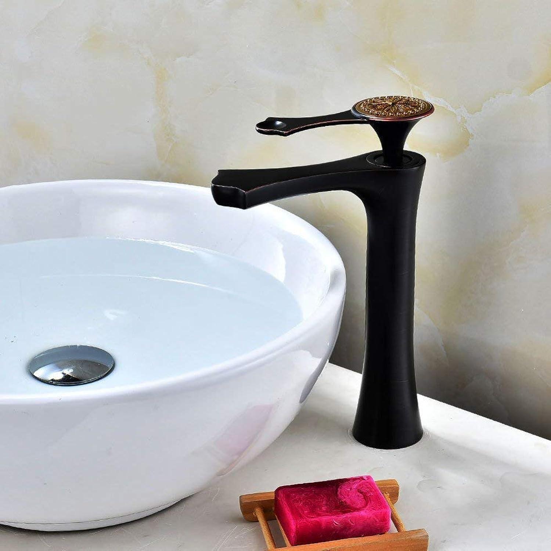 FuweiEncore Wasserhahn Europischen Becken Wasserhahn Bad Hhe Wasserhahn Retro schwarz Waschbecken Wasserhahn Einlochmontage Wasserhahn