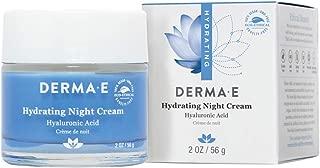 DERMA E Hydrating Night Cream with Hyaluronic Acid, 2oz