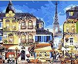 Maritime Hotel Paris Mural Pintado a Mano Pintura Lienzo Mural Regalo Animal Decoración de la habitación niños Adultos Dibujo 40x50cm