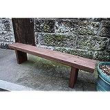 ジャービス商事 ガーデンベンチ 枕木台ベンチ 2型(カンナ・塗装仕上げ)  26015 木製