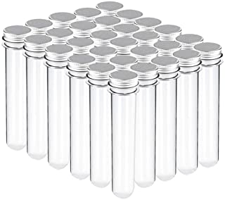 BTSD-home 29x150mm(70ml) Plastic Test Tubes with Screw Caps for Gumball Candy Storage, Bath Salt Vials, Hot Cocoa Containers, Bridal Shower, Baby Shower, Wedding, Kids Birthday Party Favors(30 Pack)