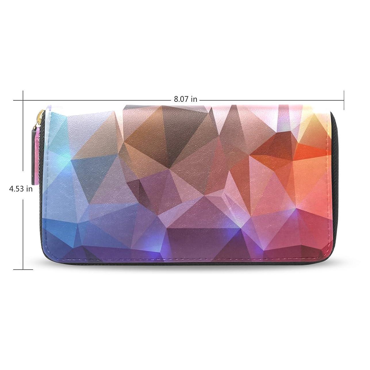 性格別にヨーグルトUSAKI(ユサキ) レディース ファスナー 財布,抽象的 3D チェック柄,お札 小銭 カード入れ 大容量 長財布 入学式 卒業式 誕生日 プレゼント