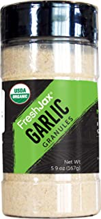 FreshJax Premium Organic Spices, Herbs, Seasonings, and Salts (Certified Organic Garlic Granules - Large Bo...