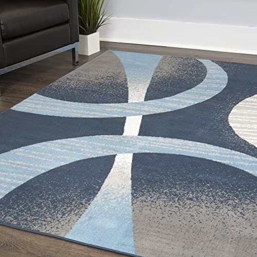 Home Dynamix Premium Indus Modern Area Rug Midnight Blue Blue 7 8 x10 7 Rectangle product image