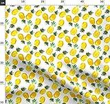 Ananas, Tropisch, Wasserfarben, Gelb, Sommer, Obst Stoffe -