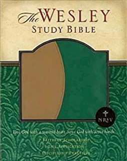 NRSV Wesley Study Bible - Green/Brown Faux Leather Edition: New Revised Standard Version