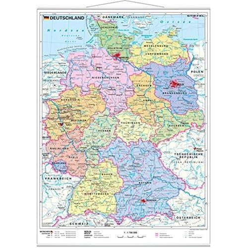Deutschland Karte Autobahnen Und Städte.Landkarte Deutschland Amazon De