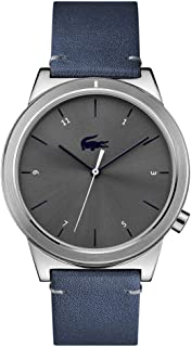 Lacoste Motion Men's Blue Dial Leather Band Watch - 2010989