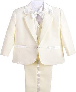 b09e07b9685 Dressy Daisy Baby Boy  5 Pcs Set Formal Tuxedo Suits No Tail Christening  Outfits