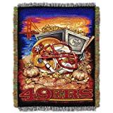The Northwest Company NFL San Francisco 49ers 'Home Field Advantage' Woven Tapestry Throw Blanket, 48' x 60' , Red