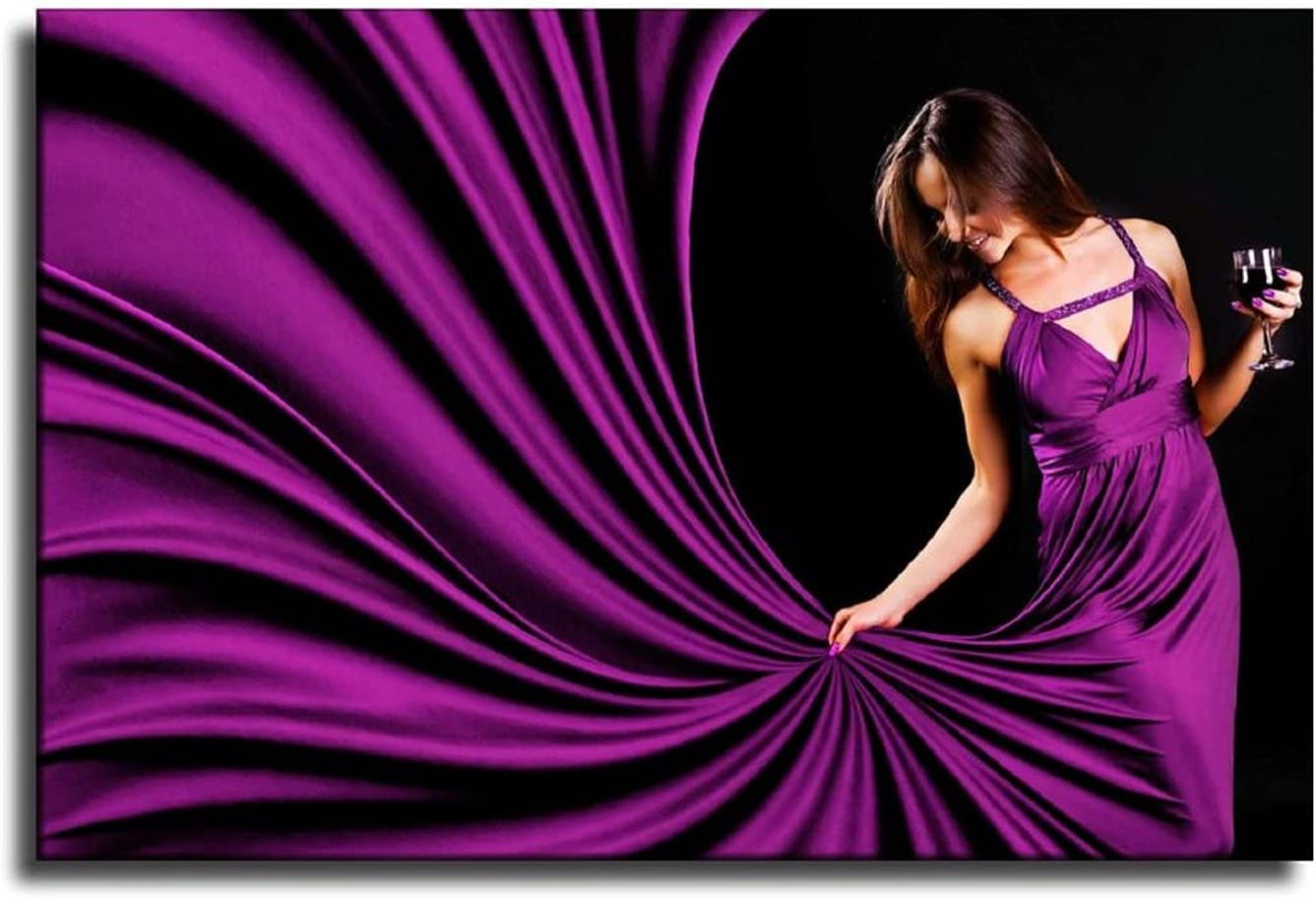 Wedding Party Purple Evening Dress Girl Poster Colorado Springs Mall Wall Ultra-Cheap Deals Art Home Wal