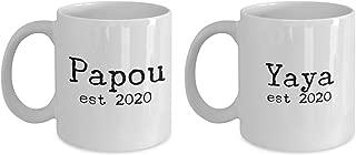 Yaya Papou est 2020 Mug Set 11oz 15oz novelty gift greek grandma grandpa coffee cup grandmother grandfather mugs pregnancy announcement cups reveal re