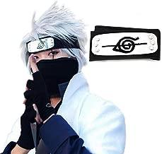 Atenia Naruto Cosplay Headband, Naruto Costume Anti Leaf Village Ninja Headband Kakashi Cosplay