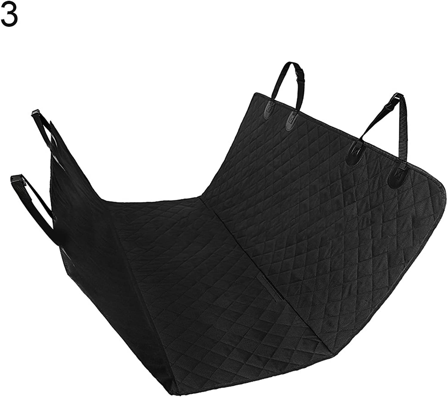 Blackzone Waterproof Pet Dog Cat Car Back Seat Carrier Cover Mat Hammock Cushion Predector  Without Ear