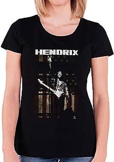 JIMI HENDRIX ジミヘンドリックス (WOODSTOCK 50周年記念) - PEACE FLAG/Tシャツ/レディース 【公式/オフィシャル】