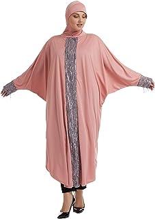 Women's One-piece Loose Batwing Maxi Prayer Dress Muslic Abaya Hijab Jellaba Islamic Ramadan Black