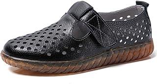 ZXCP Mocasines para Mujer Casual Loafers de Cuero Zapatos de Conducción Cómodos Zapatillas