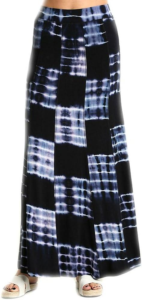 Umgee Tie Dye Print Maxi Skirt