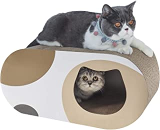 ComSaf 猫 つめとぎ トンネル 爪とぎ 段ボール 大型 猫ハウス 猫ベッド 58×25.4×25.4cm(幅X奥行X高さ)